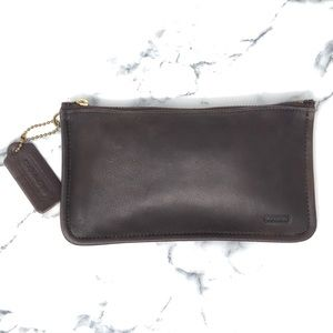 Coach Leather Skinny Case - Chestnut Brown
